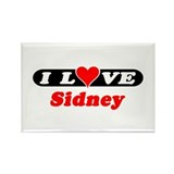 I Love Sidney Rectangle Magnet (10 pack)