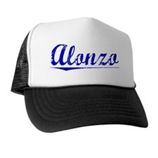 Alonzo, Blue, Aged Trucker Hat
