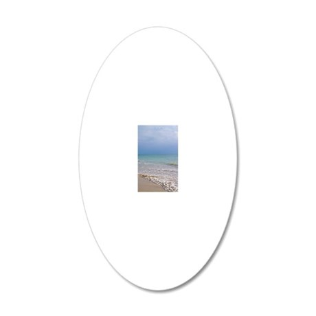 Puerto Vallarta Beach 20x12 Oval Wall Decal