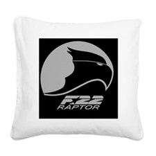 F-22 Raptor Square Canvas Pillow
