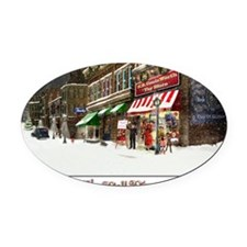 THE TOY STORE BELL RINGER Oval Car Magnet