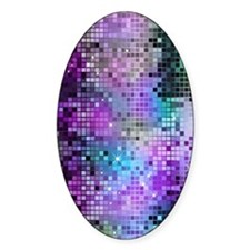 Disco Mirrors in Purple and Green Decal