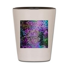 Disco Mirrors in Purple and Green Shot Glass