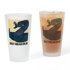Dont Tread On Me Updated - Canvass Drinking Glass