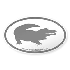 Alligator Oval Car Bumper Decal