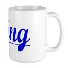 Ching, Blue, Aged Mug