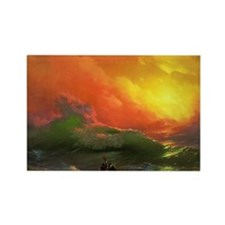 Ivan Aivazovsky The Ninth Wave Rectangle Magnet