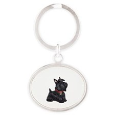 Scottish Terrier #2 Oval Keychain
