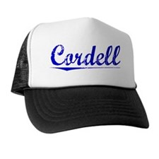 Cordell, Blue, Aged Trucker Hat