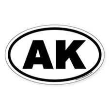 Alaska AK Euro Oval Decal