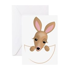 Kangaroo Pouch Greeting Card