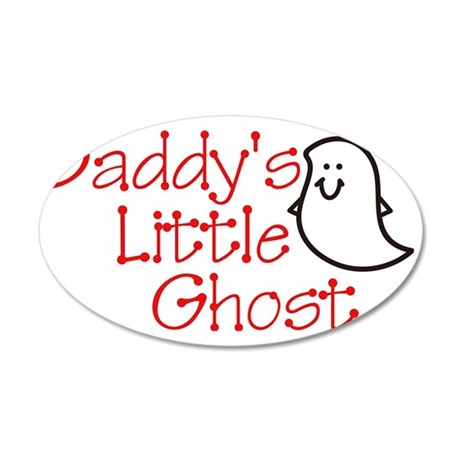Daddys Little Ghost 35x21 Oval Wall Decal