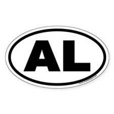 Alabama AL Euro Oval Decal