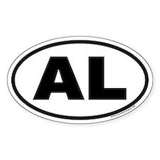 Alabama AL Euro Oval Decal