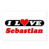 I Love Sebastian Postcards (Package of 8)