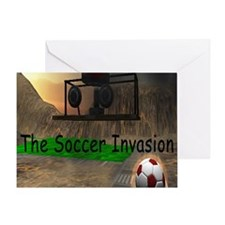 Soccer Invasion Greeting Card