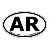 Arkansas, USA Oval Car Bumper Decal