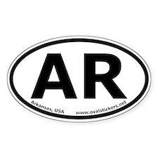 Arkansas, USA Oval Car Bumper Decal