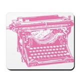 Pink Typewriter Mousepad