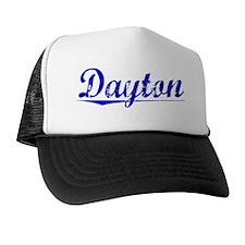 Dayton, Blue, Aged Trucker Hat