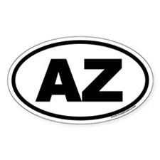 Arizona AZ Euro Oval Decal