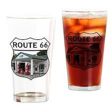 Route 66 - Amblers Texaco Gas Stati Drinking Glass