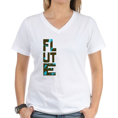 Asymmetrical Flute Women's V-Neck T-Shirt