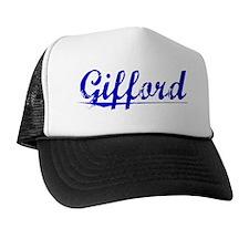 Gifford, Blue, Aged Trucker Hat