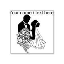 Custom Bride And Groom Sticker