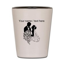 Custom Bride And Groom Shot Glass