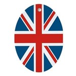 British Flag Oval Ornament