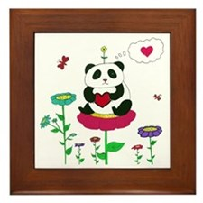 Panda Love Framed Tile