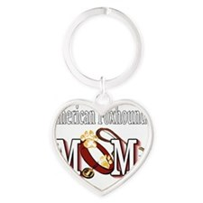 American Foxhound Mom Heart Keychain