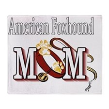 American Foxhound Mom Throw Blanket