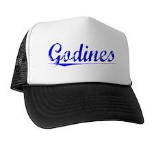Godines, Blue, Aged Trucker Hat