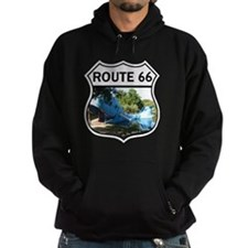 Discover History - Route 66 - Blue W Hoodie