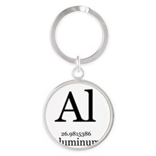 Elements - 13 Aluminum Round Keychain