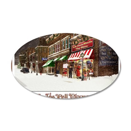 THE TOY STORE BELL RINGER 35x21 Oval Wall Decal