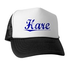 Hare, Blue, Aged Trucker Hat