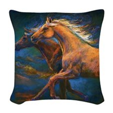 Chasing The Wind Woven Throw Pillow
