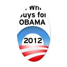 Old White Guys for Obama Oval Car Magnet