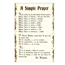 A Simple Prayer by Saint  Postcards (Package of 8)