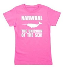 Narwhal Unicorn Girl's Tee
