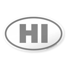 Hawaii HI Euro Oval Decal