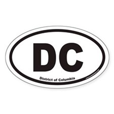 District of Columbia DC Euro Oval Decal