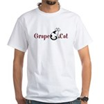 Grape Cat White T-Shirt