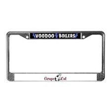 Grape Cat License Plate Frame