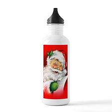 Winking Vintage Santa Water Bottle