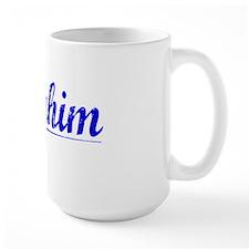 Ibrahim, Blue, Aged Mug