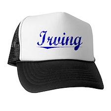 Irving, Blue, Aged Trucker Hat